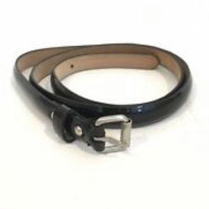 Ann Taylor Patten Leather Skinny Belt